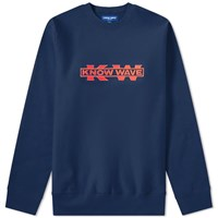 Know Wave X Black Dice Service Sector Embroidered Crew Sweat Blue