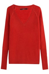 J Brand Wool Pullover With Cashmere Red