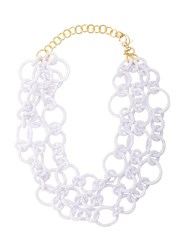 Lele Sadoughi Chunky Chain Necklace White