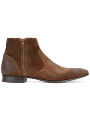 Pete Sorensen Hurricane Low Ankle Boots Brown