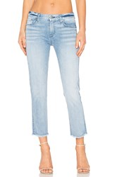 7 For All Mankind Distressed Unfinished Hem Ankle Straight Bright Bristol