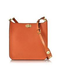 Michael Kors Sullivan Large Ns Leather Messenger Bag Orange