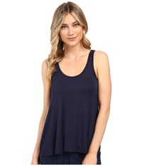 Splendid Scoop Neck Drapey Tank Top Navy Iris Women's Sleeveless