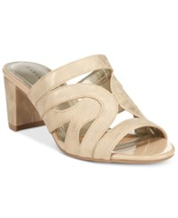 Karen Scott Daere Block Heel Sandals Only At Macy's Women's Shoes Champagne