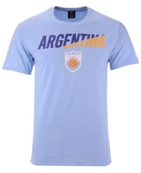Fifth Sun Argentina National Team Gym Wedge World Cup T Shirt Lightblue Navy Yellow