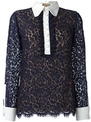 Michael Kors Lace Blouse Blue