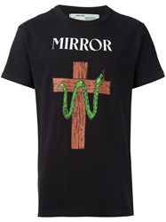 Off White 'Snake Mirror' T Shirt Black