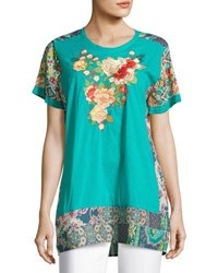 Johnny Was Yokito Embroidered Top Multi