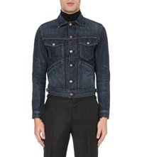 Tom Ford Pocketed Denim Jacket Blue