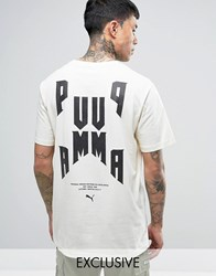Puma Oversized Graphic T Shirt In White Exclusive To Asos 57534301 White