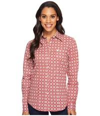 Cinch Cotton Plain Weave Print Red Women's Clothing