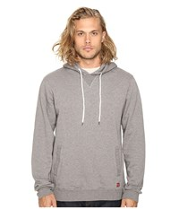 Brixton Damo Hood Fleece Charcoal Heather Men's Fleece Gray