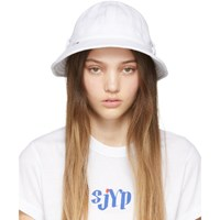 Sjyp Ssense Exclusive White Terry Hat