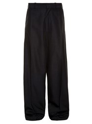 Vetements Oversized Wide Leg Trousers Black