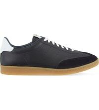 Sandro Sx 01 Leather Trainers Marine