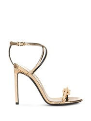 Tom Ford Knot Detail Sandals Gold