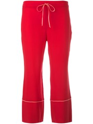 L'autre Chose Cropped Pants Red