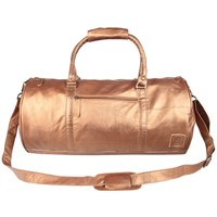 Mahi Leather Weekend Classic Duffle Holdall Overnight Gym Bag In Bronze Gold
