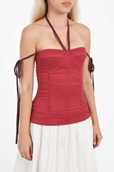 Brock Collection Women S Tabitha Bustier Top Boutique1 Red