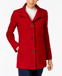 Inc International Concepts Stand Collar Peacoat Created For Macy's Red Dahlia