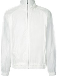 Cottweiler Semi Sheer Zipped Windbreaker Men Cotton Linen Flax Polyamide Polyurethane S White