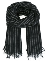 Golden Goose Deluxe Brand 'Neil' Pinstriped Scarf Grey