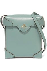 Manu Atelier Pristine Small Leather Shoulder Bag Green