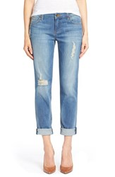 Women's Kut From The Kloth 'Catherine' Distressed Stretch Boyfriend Jeans Smile
