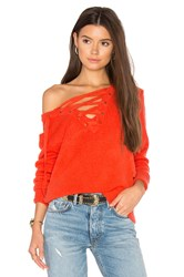 Bardot Criss Cross Sweater Orange