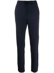 Closed High Waisted Slim Fit Trousers Blue