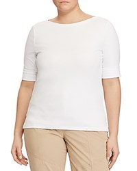 Ralph Lauren Plus Elbow Sleeve Tee White
