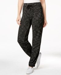 Styleandco. Style And Co. Sport Printed Drawstring Jogger Pants Only At Macy's Black White