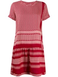 Cecilie Copenhagen Short Sleeved Cotton Dress Red