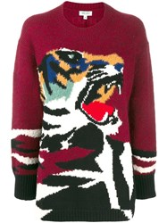 Kenzo Oversized Tiger Sweater Red