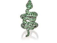 Sidney Garber Women's Magnea Hinged Ring Green