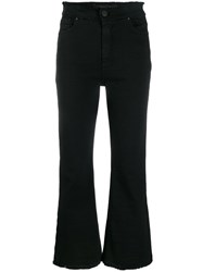 Federica Tosi Distressed Bootcut Jeans Black