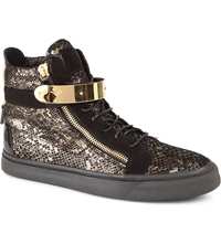Giuseppe Zanotti Python Print High Top Trainers Blk Other