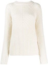 Aspesi Round Neck Sweatshirt White