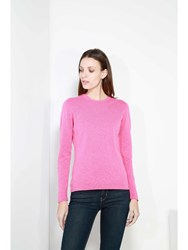 Johnstons Of Elgin Cashmere Round Neck Sweater Pink