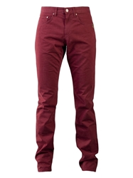 Sand Straights Trousers Red