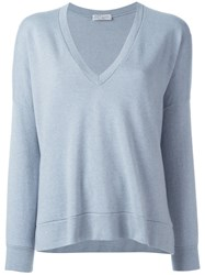 Brunello Cucinelli V Neck Sweatshirt Grey