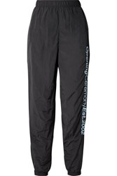 Opening Ceremony Embroidered Crinkled Shell Track Pants Black