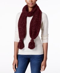 Charter Club Velvety Tassel Chenille Scarf Only At Macy's Mulberry Spice