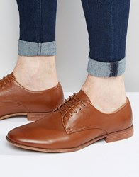 Asos Derby Shoes In Tan With Natural Sole Tan