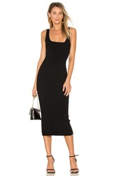 Autumn Cashmere Midi Square Neck Dress Black