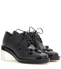 Simone Rocha Embellished Leather Derby Pumps Black