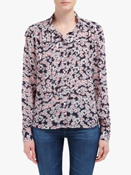 Lily And Lionel Devon Floral Print Shirt Navy Blossom
