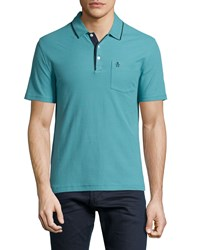 Penguin Mearl Slim Fit Polo Shirt Brittany Blue
