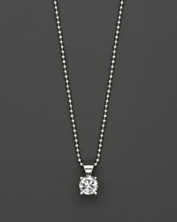 Bloomingdale's Diamond Solitaire Pendant Necklace In 18K White Gold 1.0 Ct. T.W.