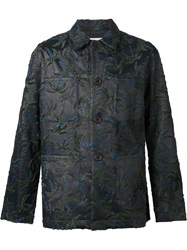 Julien David Textured Woven Blouson Black